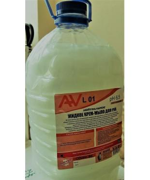 Универсальное гелеобразное средство для мытья рук крем мыло AV L 01